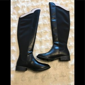 Black over the knee boots sz 7